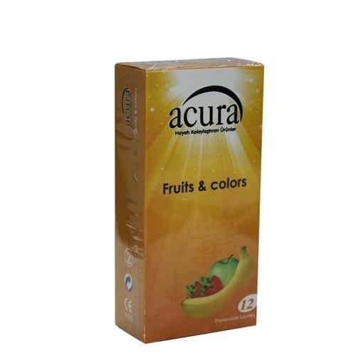 ACURA CONDOM FRUITS COLORS 12 LI (AC 9003) resmi