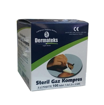 Picture of GAZ KOMPRES 100LUK STERIL (DERMATEKS)