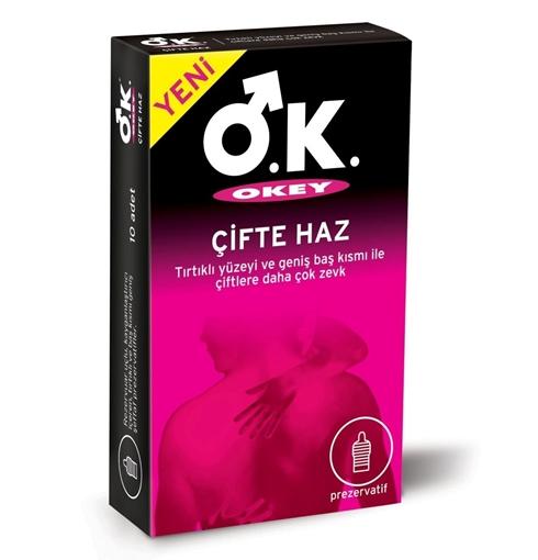 Picture of OKEY 10 LU ÇİFTE HAZ PREZERVATİF