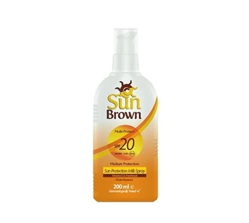 Picture of SUN BROWN SUN MILK SPF 20 200 ML