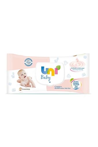 UNI BABY ISLAK HAVLU CREAM 56 LI resmi