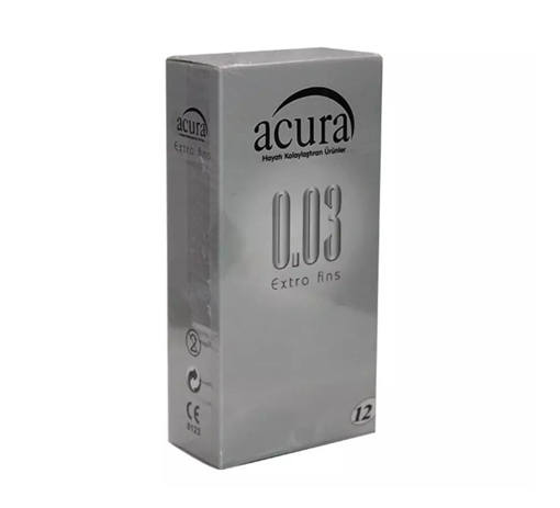 ACURA CONDOM EXTRA FINS 12 LI (AC 9000) resmi
