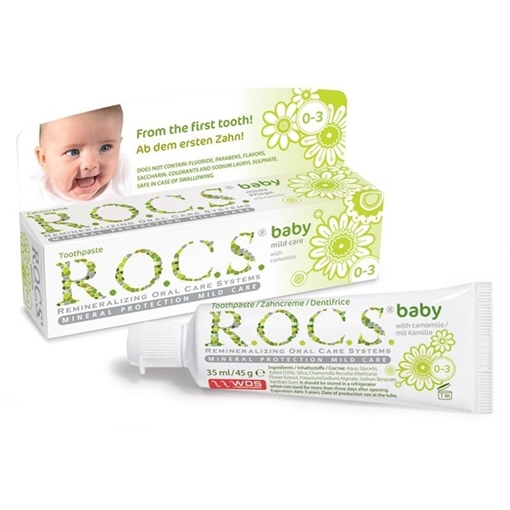 ROCS BABY 0-3 YAS PAPATYA ÖZLÜ DİŞ MACUNU resmi
