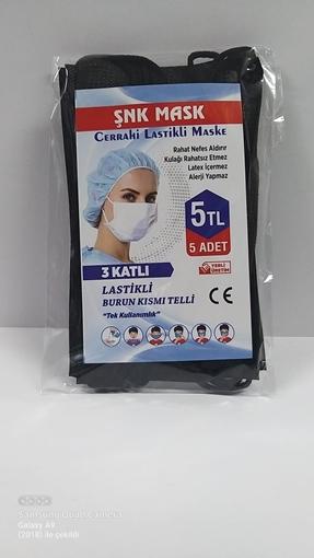 Picture of MASKE 3 KATLI 5 LI SIYAH