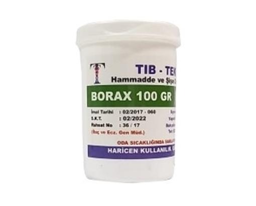 BORAX 100 GR TIB TEK resmi