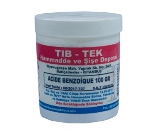ACIDE BENZOIOUE 100 GR TIB TEK resmi