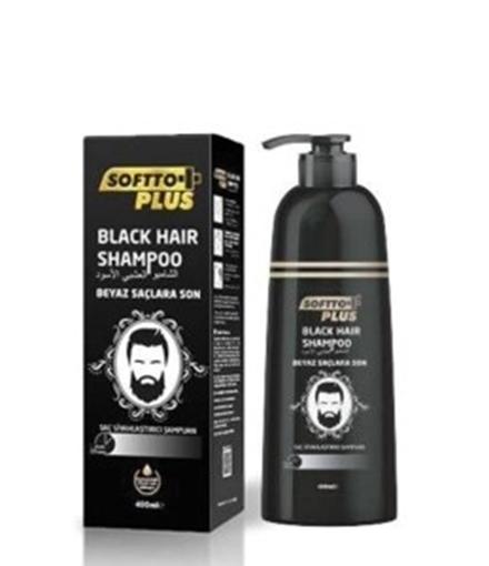 SOFTTO+PLUS BLACK HAIR SAMPUAN 350 ML resmi