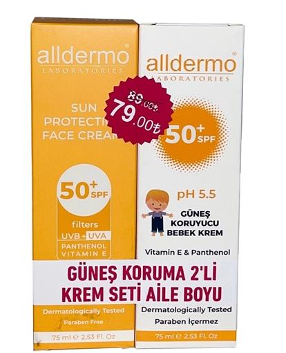 Picture of ALLDERMO GUNES KORUMA 2 Lİ KREM SETİ AİLE BOYU