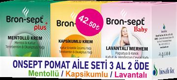 BRON-SEPT POMAT 3AL 2 ÖDE(MENTOL+KAPSIKUMLU+LAVANT resmi
