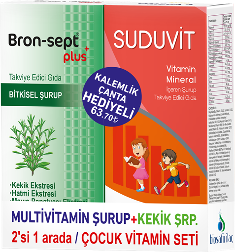 Picture of SUDUVIT ŞRP+BRON-SEP KEKIK ŞRP COCUK VİT.SET ÇANTA