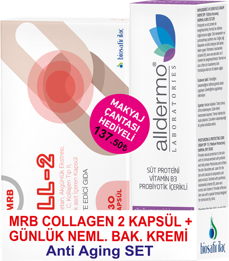 MRB COLLAGEN 2 KAP+BAKIM KREM ANTIAGING SET (ÇNT H resmi