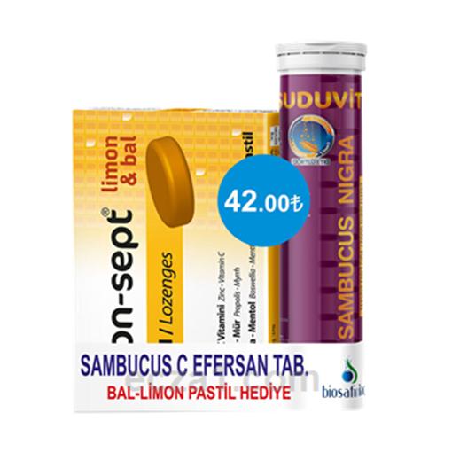Picture of SUDUVIT SAMBUCUS C EFF TAB (BAL-LİMON HEDİYELİ)